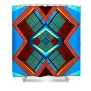 Abstract Photomontage No 3 Shower Curtain