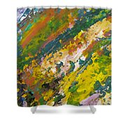Abstract Piano 3 Shower Curtain