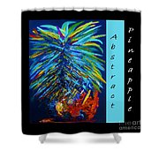 Abstract Pineapple Shower Curtain