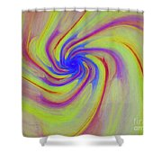 Abstract Pinwheel Shower Curtain