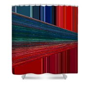 Abstract Pipeline Shower Curtain