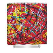 Abstract Pizza 2 Shower Curtain