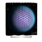 Abstract Planet Shower Curtain