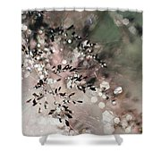 Abstract Plant Shower Curtain