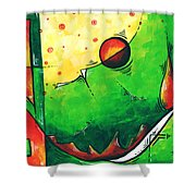 Abstract Pop Art Original Painting Shower Curtain