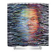 Abstract Portrait Shower Curtain