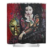 Abstract Portraits Shower Curtain