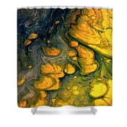 Abstract Pour Shower Curtain by Sonya Wilson