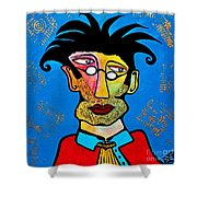 Abstract Professor Shower Curtain