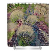 Abstract Puffball Shower Curtain