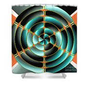 Abstract Radial Object Shower Curtain