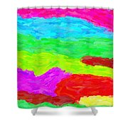 Abstract Rainbow Art By Adam Asar 3 Shower Curtain