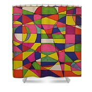 Abstract Rainbow Of Color Shower Curtain