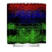 Abstract Rainbow Shower Curtain