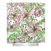 Abstract Red And Green Design #1 Shower Curtain