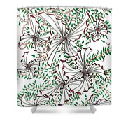 Abstract Red And Green Design  Shower Curtain