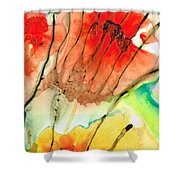 Abstract Red Art - The Promise - Sharon Cummings Shower Curtain