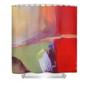 Abstract Red Shower Curtain