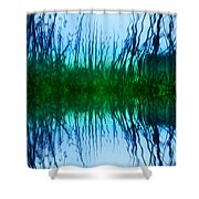 Abstract Reeds No. 1 Shower Curtain