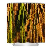 Abstract Reeds Triptych Middle Shower Curtain