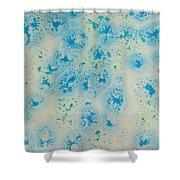 Abstract Resin Splatter Shower Curtain