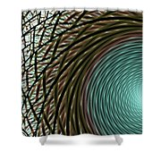 Abstract Ring Shower Curtain