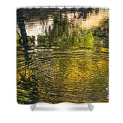 Abstract River Reflection Shower Curtain