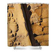 Abstract Rock With Diagonal Line Shower Curtain