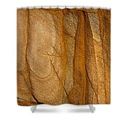 Abstract Rock With Lines And Rectangles Shower Curtain