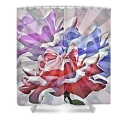 Abstract Roses Shower Curtain