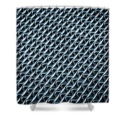 Abstract Rubber And Iron Mat Shower Curtain