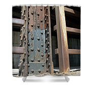 Abstract Rust 1 Shower Curtain