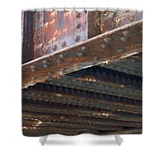 Abstract Rust 4 Shower Curtain