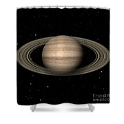 Abstract Saturn Shower Curtain