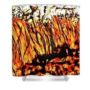 Abstract Saw Grass Iv Shower Curtain