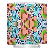 Abstract Seamless Pattern - Blue Pink Green Purple Shower Curtain