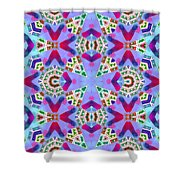 Abstract Seamless Pattern  - Blue Pink Purple Red Green Brown White Shower Curtain