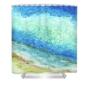 Abstract Seascape Beach Painting A1 Shower Curtain