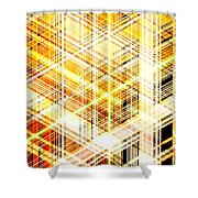 Abstract Shining Lines Shower Curtain