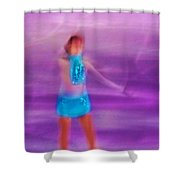 Abstract Skater Shower Curtain