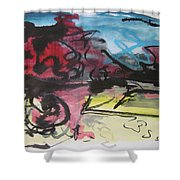 Abstract Sketch18 Shower Curtain
