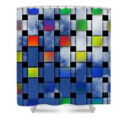 Square Sky Shower Curtain