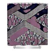 Abstract Slates Shower Curtain