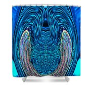 Abstract Smile Shower Curtain