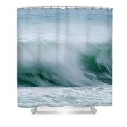 Abstract Soft Waves Shower Curtain