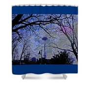 Abstract Space Needle Shower Curtain