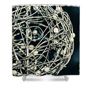 Abstract Sphere Shower Curtain by Todd Blanchard