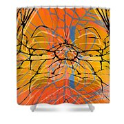 Abstract Spider Shower Curtain
