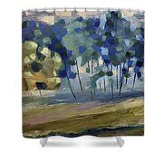 Abstract, Spring Shower Curtain