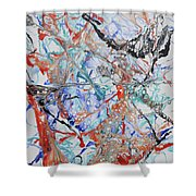 Abstract String Shower Curtain
